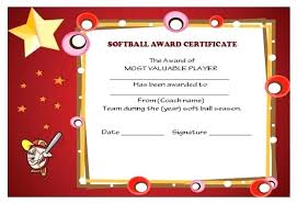 Leadership Award Certificate Titles For Awards Softball
