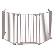 baby vivo comfortable barrier metal 4 1 fire guard heater guard in grey 4 panels and one door