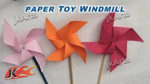 Diy How To Make Paper Toy Pinwheel Easy Craft For Kids Jk Arts