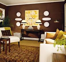 Wall colors for brown furniture Sectional If Youre Going For Dark Wall Color Be Sure To Lighten Up The Room With Some Bright Decorations Like This Room Does By Hanging Up White Plates Worldreportinfo 75 Enchanting Brown Living Rooms Shutterfly