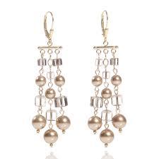 chandelier earrings bridal view larger llama bird radiant swarovski crystal and pearl