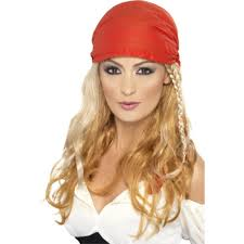 wig bandana blonde pirate style long female pirate princess wig