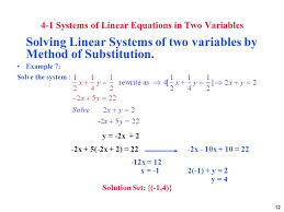 systems of linear equations ppt