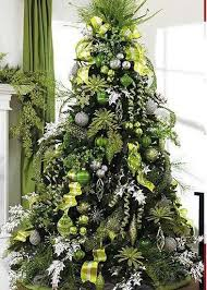 Choosing A Christmas Tree Theme - Christmas Decorating - (green/white color  scheme good for work)