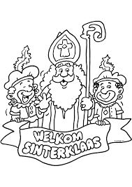 Welkom Sinterklaas Sinterklaas Kleurplaten Kleurplaatcom