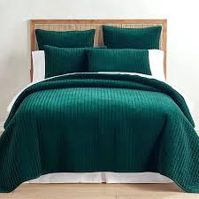 adairs green velvet quilt cover handmade pick stitch quilts moss