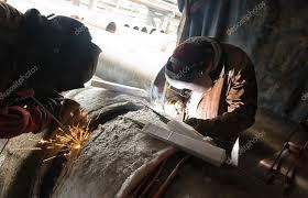 Pipe Welders Parallel Welding Of Two Pipe Welders Simultaneously Host Large D