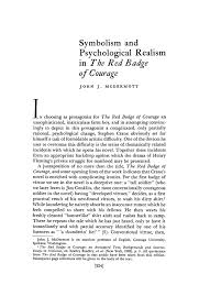 symbolism and psychological realism in the red badge of courage  pdf extract preview