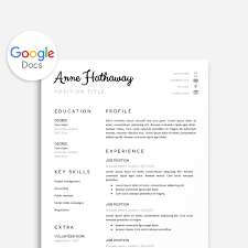 Google Doc Resume Template Resume Template Google Doc Google Doc Cover Letter Google Doc Cover Letter Resume Template Instant Download