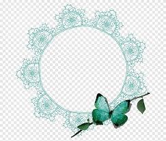 mariposa verde con borde redondo verde