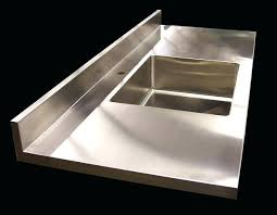 stainless steel counter 8 stainless steel counter with custom stainless steel sink integral brushed 4 finish stainless steel counter