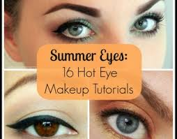 simple makeup with summer makeup tutorial with summer eyes 16 hot eye makeup tutorials
