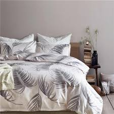 large leaf pattern polyester fiber home textile 2 bedding sets bed set duvet cover mans cover set pillowcase usa queen size lime green bedding duvets covers