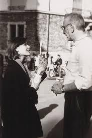 """lottereinigerforever:""""Irène Jacob & Krzysztof Kieślowski on the set of  """"Trois Couleurs : Rouge"""" """""""