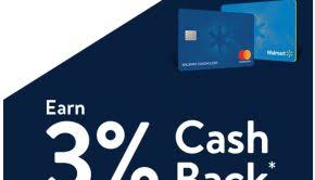 walmart credit card 3 cash back on all in purchases