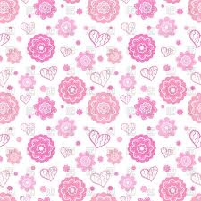 Pictures Of Hearts And Flowers Romantic Seamless Pattern With Hearts And Flowers Stock Vector Image