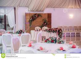Beautifully Decorated Guest Table With Guest S Names On