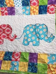 Ellie- A PDF quilt pattern. Applique. Embroidery. Elephant. Panel ... & Elephant Baby Quilt from http://www.HomeSewnByCarolyn.com Adamdwight.com