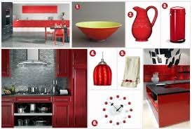 Red Kitchen Decorative Accessories