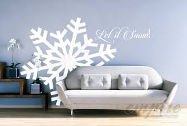 large snowflake decals giant snowflakes holiday decals let it snow decal frozen decals snow wall decals let it go decals winter