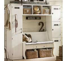 pottery barn entryway furniture. Modular Family Locker Entryway System With Bench Pottery Barn Furniture