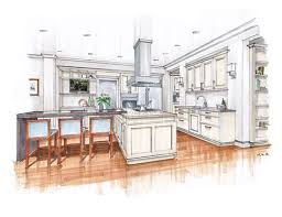 Interior Design Drawing Cool Main Color H A N D R E N D E R I N G S Pinterest Kitchen Interior