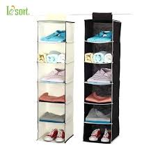 hanging closet organizers household essentials 6 shelf hanging closet organizer shelves natural non woven 6 shelf