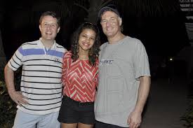 Jamaica GleanerGallery|Ron McKay's poolside party|Janet Silvera Photo From  L- Aidan Heavey, Claudine Smith and Ron McKay of ADS Global at a poolside  party with his 'breddas' at his Palmyra Resort and Spa