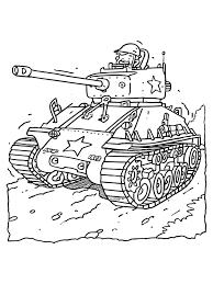 Kleurplaat Tank Kleurplatennl