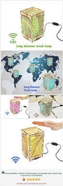 Long Distance Friendship Lamp Best Friend Gift Wood Touch