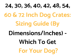 Midwest Dog Crate Size Chart 24 30 36 40 42 48 54 60 72 Inch Dog Crates Sizing