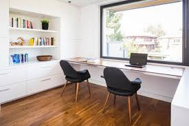 long desks for home office. Cool Dark Chairs With White Long Desk In Small Home Office Design Desks For O