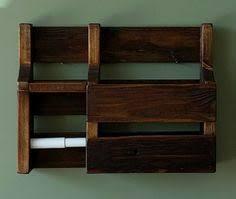 Toilet Roll Holder Magazine Rack Rustic Pallet Wood Toilet Paper Roll Holder Paper Roll Holders 94
