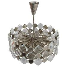 faceted crystal glass hanging chandelier bakalowits and söhne vienna 1960