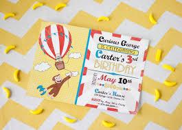 9 26 curious george birthday invitation