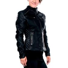 black water jacket affliction jackets women black size l