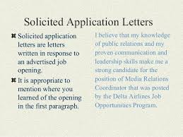 Definition For Cover Letter Solicited Vs Unsolicited Cover Letter Magdalene Project Org