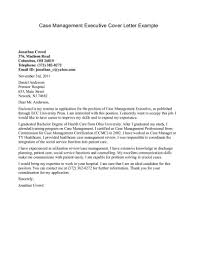 Cover Letter Manager Cover Letter Templates Environmental Supervisor