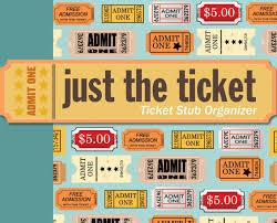 Just The Ticket Ticket Stub Organizer Peter Pauper Press Inc