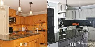 diy painted kitchen cabinets before and after