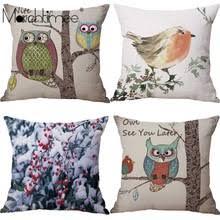 <b>Чехол на подушку</b> с рисунком совы, семейный <b>Чехол на подушку</b> ...