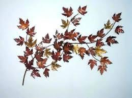 large metal maple leaf wall art