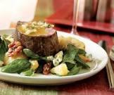 beef tenderloin roasted in an herb infused salt crust