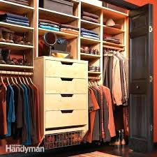 build your own custom closet incredible closet organizers storage the family handyman for build your own build your own custom closet