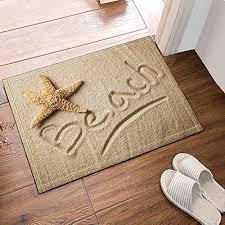 nymb starfish on beach bath rugs non slip floor entryways outdoor indoor front door mat