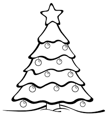 Simple Christmas Tree Coloring Pages At Getdrawingscom Free For
