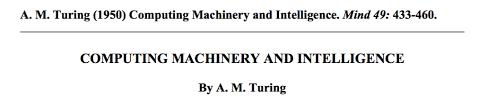 opinion neurobanter turing s seminal 1950 paper describing the imitation game experiment