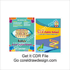 Sunday School Report Card Template Corel Draw Design Report Card