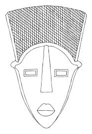 Small Picture 13 African Mask Template Images African Mask Coloring Pages