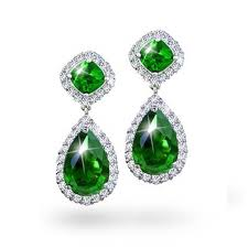 simulated emerald earrings view larger